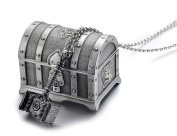 REINDEAR WOW World of Warcraft Orgrim Doomhammer Metal Pendant Necklace w/ Treasure Box Collection US Seller