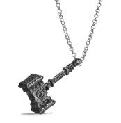 REINDEAR World of Warcraft Orgrim Doomhammer Metal Pendant Necklace