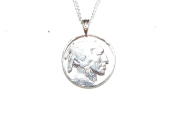 Hand Cut Indian Head Nickel With a Bale as a Necklace