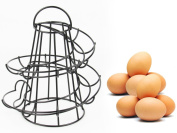 Safekom HELTER SKELTER SPIRAL EGG HOLDER HOLDS 18 EGGS SWIRL STORAGE KITCHEN STAND RACK
