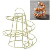 Safekom New Helter Skelter Spiral 18 Egg Holder Swirl Storage Kitchen Stand Rack