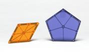 Magna-Tiles 15718 Polygons 8 Piece Expansion Set