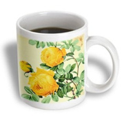3dRose Vintage Yellow Roses Digital Art Ceramic Mug, 330ml