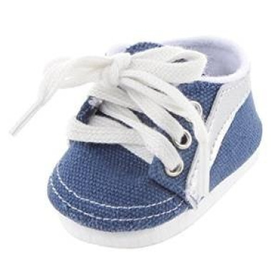 Veroda Blue Lace Up Sneakers Shoes Accessory for 46cm American Girl Our Generation Journey My Life Dolls