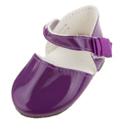 Veroda 1 Pair Purple Shoes Accessory for 46cm Dolls