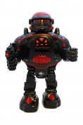 Remote Control Robot - RoboShooter Black & Red - Fires Discs, Dances, Talks - Super Fun RC Robot by ThinkGizmos