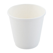Restaurantware 25 Count 240ml Wide Disposable Double Wall Coffee and Tea Cup, Medium, White