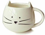 OliaDesign Cat Coffee Milk Ceramic Mug Cup, White