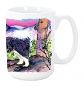 Caroline's Treasures SS8528CM15 Tibetan Mastiff Microwavable Ceramic Coffee Mug, 440ml, Multicolor