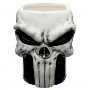 Zak Designs Marvel Comics Collectable Sculpted ceramic Mug In The Shape of The Punisher BPA Free, 380ml, Decorated
