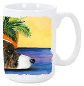 Caroline's Treasures SS8190CM15 Corgi Dishwasher Safe Microwavable Ceramic Coffee Mug, 440ml, Multicolor