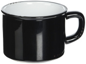 Abbott Collection Black Enamel Look Cappuccino Cups