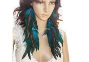 Long Feather Earrings for Women Natural Feather Earrings 33-36 CM