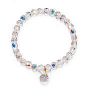 "LadyColour ""Pure Love"" Stretch Beads Bracelet 17cm For Girls & Women, Made With Crystals"