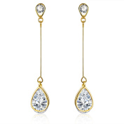 18K Gold Plated Cubic Zirconia Drop Earrings (3.9 cttw)
