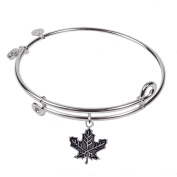 SOL 230079 Maple Leaf, Bangle Sterling Silver Plated