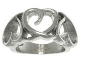 Jewellery Trends Stainless Steel Triple Open Heart Band Ring Whole Sizes 5 - 8