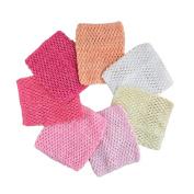 Aisila® Pack of 7 15cm Handmade Baby Girl Silk Crochet Tutu Tube Top Chest Wrap for Toddler Infants