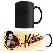 Morphing Mug DC Comics Justice League (Katana Bombshell) Ceramic Mug, Black