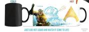 Morphing Mugs DC Comics Justice League (Aquaman) Ceramic Mug, Black