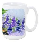 Caroline's Treasures SS8007CM15 Tibetan Mastiff Microwavable Ceramic Coffee Mug, 440ml, Multicolor