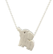 AppleLatte Cute Elephant Necklace, Silver Plated Pendant