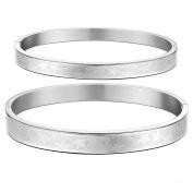 Stars Titanium Couple Bangle His and Hers Matching Set Bracelet