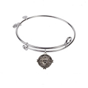 SOL 230025 Compass, Bangle Sterling Silver Plated