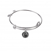 SOL 230017 Daisy, Bangle Sterling Silver Plated