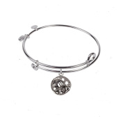 SOL 230009 Ocean, Bangle Sterling Silver Plated