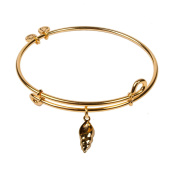 SOL 240059 Conch Shell, Bangle 18K Gold Plated Beach Theme