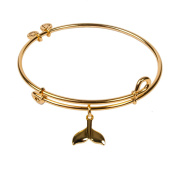SOL 240053 Whale Tail, Bangle 18K Gold Plated