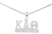 Kappa Alpha Theta Sorority Clear Crystal Rhodium Necklace Jewellery Sister Gift