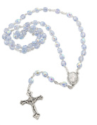 Our Lady of Grace Centre Piece Crystal Rosary, 6mm Beads Size - 12 Pcs