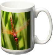 3dRose Insects Dragonfly Ceramic Mug, 440ml