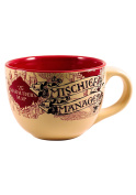 Harry Potter Silver Buffalo HP2724 The Prisoner of Azkaban Mischief Managed Ceramic Soup Mug 710ml, Multicolor