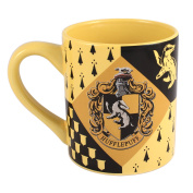 Harry Potter HP7432 Hufflepuff House Crest Ceramic Mug, 410ml, Multicolor