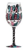 Lolita from Enesco Happy Day Wine Glass, 23cm , Multicolor