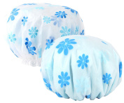 Meta-U Women Elastic Waterproof Reusable Shower Cap