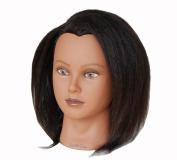 Ladella Beauty 38cm Cosmetology (Heavy Density) Ethnic 100% Yak Hair Mannequin Manikin Training Head - KATE
