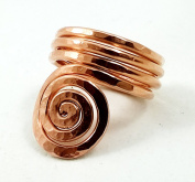 Elaments Design Solid Copper Ring the Sun Design Hand Hammered Thumb Ring Size 7