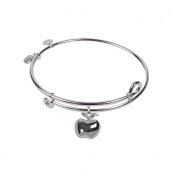 SOL 230095 Apple, Bangle Sterling Silver Plated
