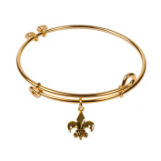 SOL 240085 Lily Flower, Bangle 18K Gold Plated