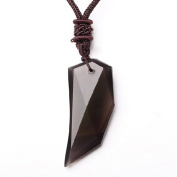 Natural ice kinds of obsidian pendant Spike