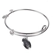 SOL 230082 Football, Bangle Sterling Silver Plated