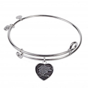 SOL 230080 Mom, Bangle Sterling Silver Plated