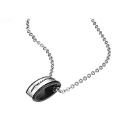 MoAndy Jewellery Titanium Stainless Steel Lover's Fashion Necklace Neckwear Chains Pendants Cubic Zirconia