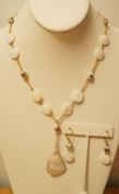 48cm Long Shell Mother of Pearl Necklace and Earring Set