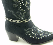 Anklet Boot Chain with Multiple Strands of Rhinestones in Designer Fashion