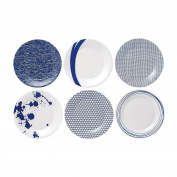 Royal Doulton Pacific Accent Plates, 23cm , Blue, Set of 6